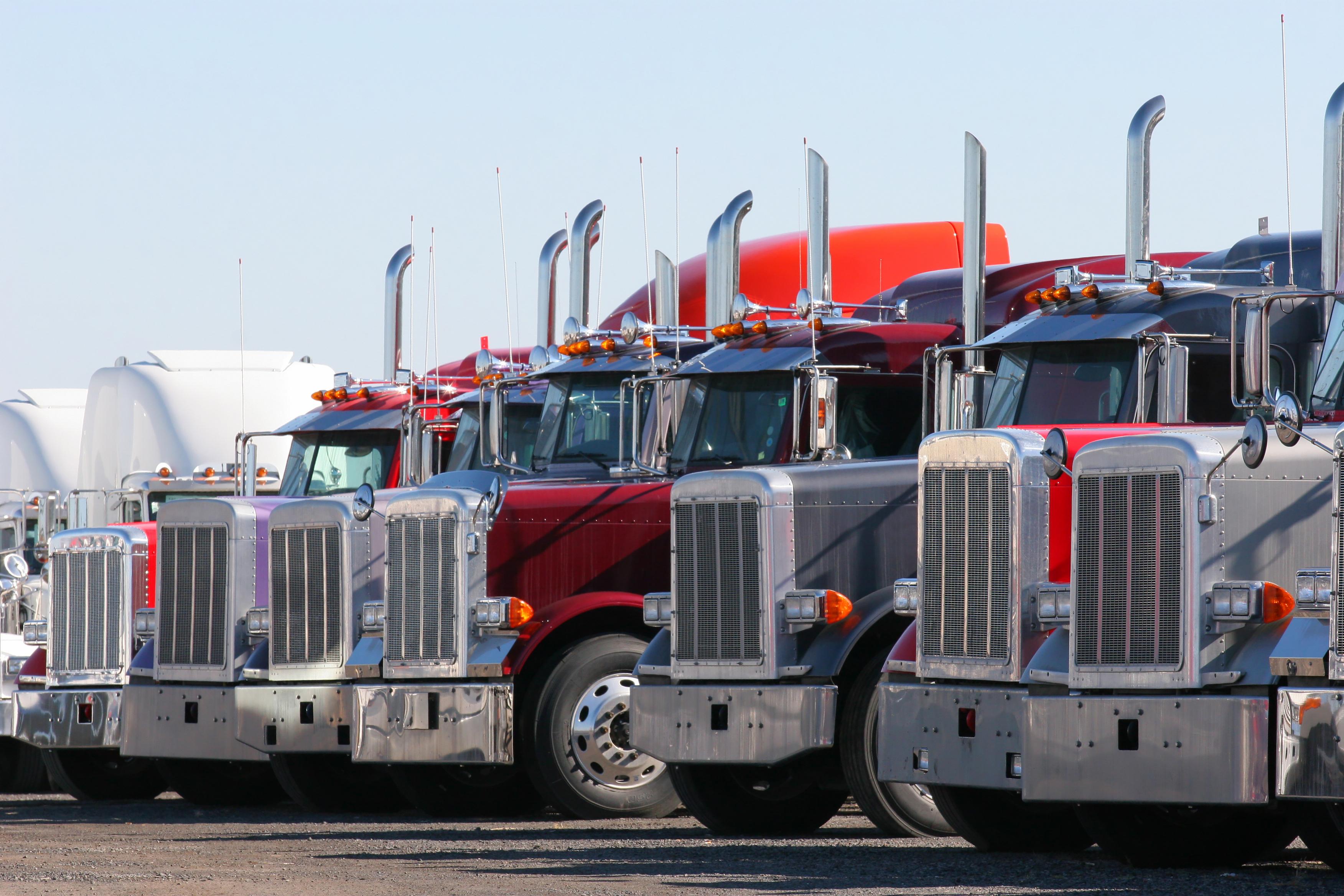 Modern Truck Line-up in Dealership